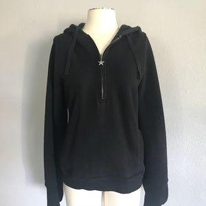EUC Arizona 1/4 Zip Black Hoodie